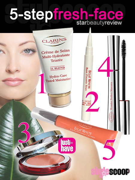 5-Steps to a fresh face with Clarins