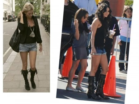 The denim shorts trend