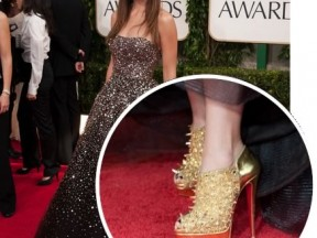 Shoe Porn &#8211; Olivia Wilde&#8217;s Golden Globe Christian Louboutin Booties
