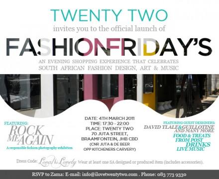 Twenty Two – Fashion Friday's