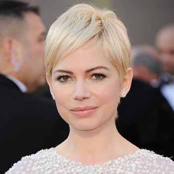 michelle williams hair short. Michelle Williams