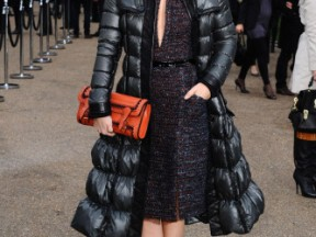 Rachel Bilson at the Burberry show