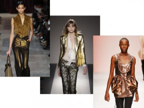 Metallic Fashion on the Runway