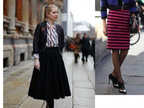 The new skirt length for winter