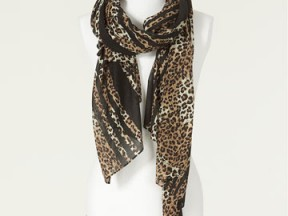 COMBINATION LEOPARD SCARF