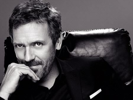The official 'money shot' of Hugh Laurie for the campaign