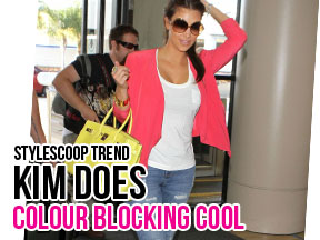 Celeb Copycat &#8211; Kim Kardashian is Colour Blocking Cool