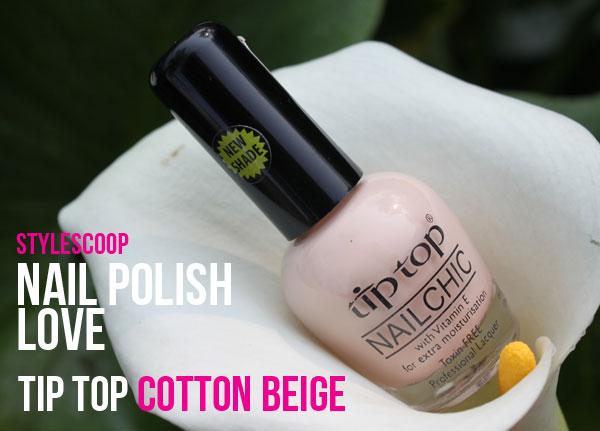 Nail Polish Love: Tip Top Cotton Beige