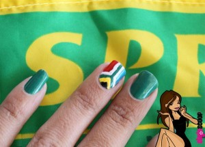 Springbok Friday – South African Flag Nail Art & Video