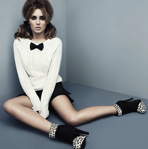 Cheryl models her shoe line (image via lalaoflondon.co.uk)