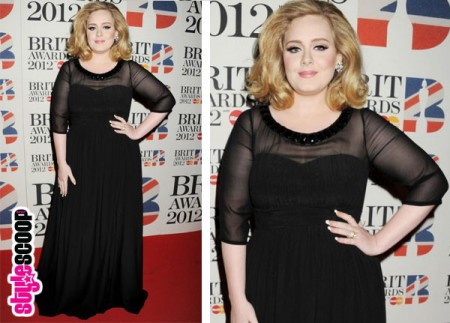 Adele in Burberry at the 2012 Brit Awards