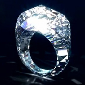 The world's first all-diamond ring, developed and copyrighted by Shawish Jewellery