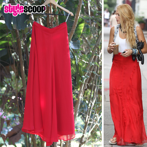 red maxi skirt – Style Scoop – Daily Fashion, Beauty and LifeStyle ...