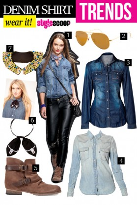 Wear the Trend &#8211; Denim Shirts