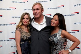 Georgia May Jagger, Schalk Burger and Jen Su at a British Airways event at The Saxon, Johannesburg, South Africa, 12 June 2012 (Picture by British Airways)