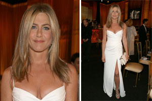 Jennifer Aniston Steps out in White