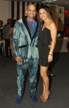 Durban fashion designer Andre Martin with Simone Martin