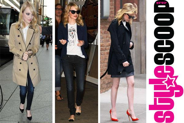 Emma Stone in Burberry #stylescoop