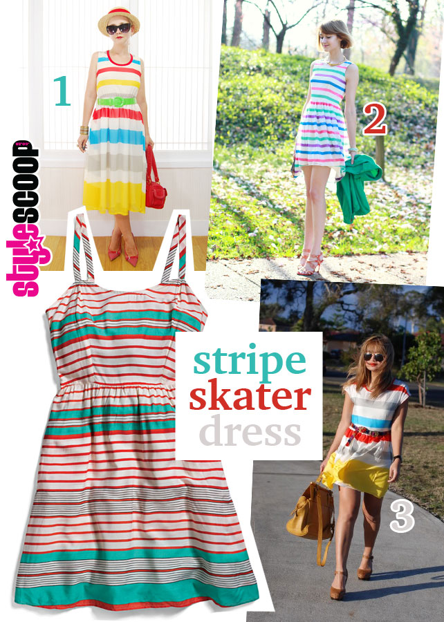 stylescoop-woolies-scooop-50's-Stripe-Dress