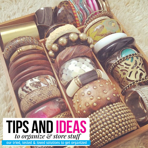 stylescoop organizing tips to store and organize your bangles
