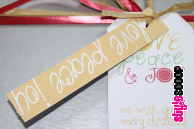 #stylescoop Christmas Gift Tags