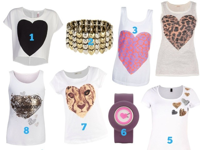 Wear Your Heart on Your Sleeve with these Super Cute Tees
