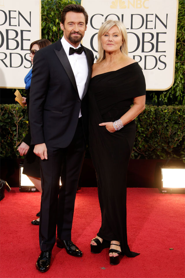 Hugh Jackman in Louis Vuitton at the 70th Golden Globe Awards | www.stylescoop.co.za