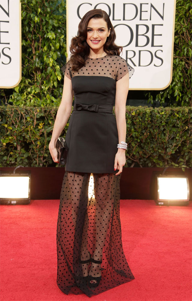 Rachel Weisz in Louis Vuitton at the 70th Golden Globe Awards | www.stylescoop.co.za