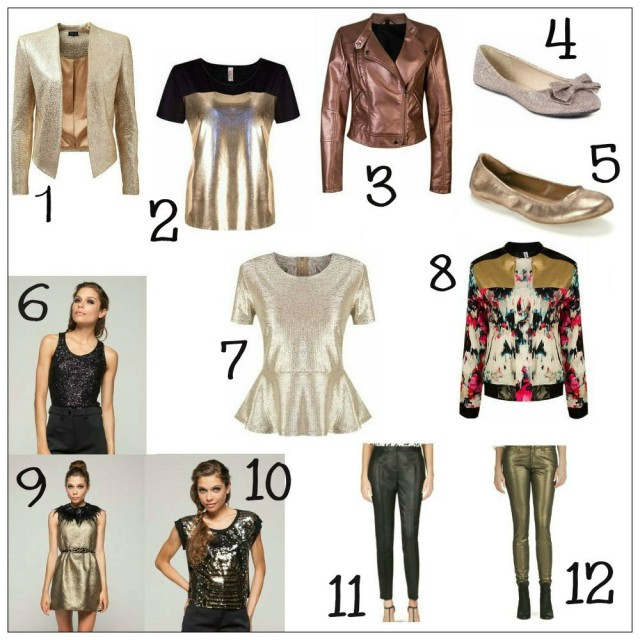 Fashionable Metallics! Shop the look on StyleScoop.co.za