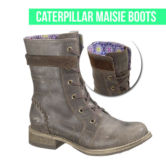 Military Style, Caterpillar Maisie Boots on www.stylescoop.co.za