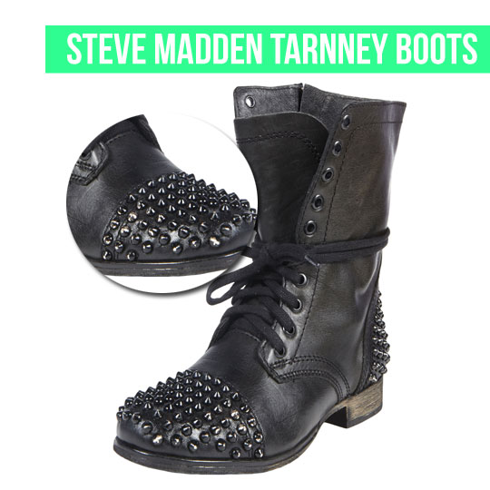 Steve Madden Tarnney Military Boots on www.stylescoop.co.za