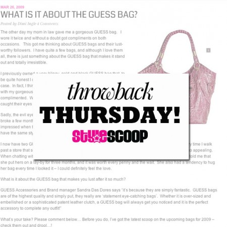 Throw Back Thursday! Remember this? #TBT
