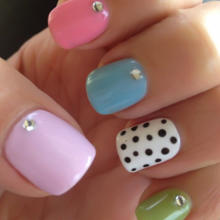 Polka Dotty Shellac Nails