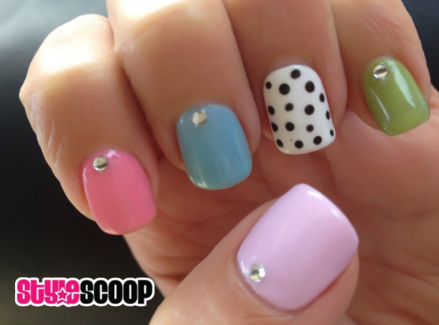 Polka Dotty Shellac Nails Stylescoop South African Lifestyle