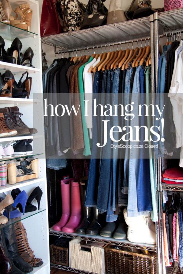 How to Hang Your Jeans | www.stylescoop.co.za