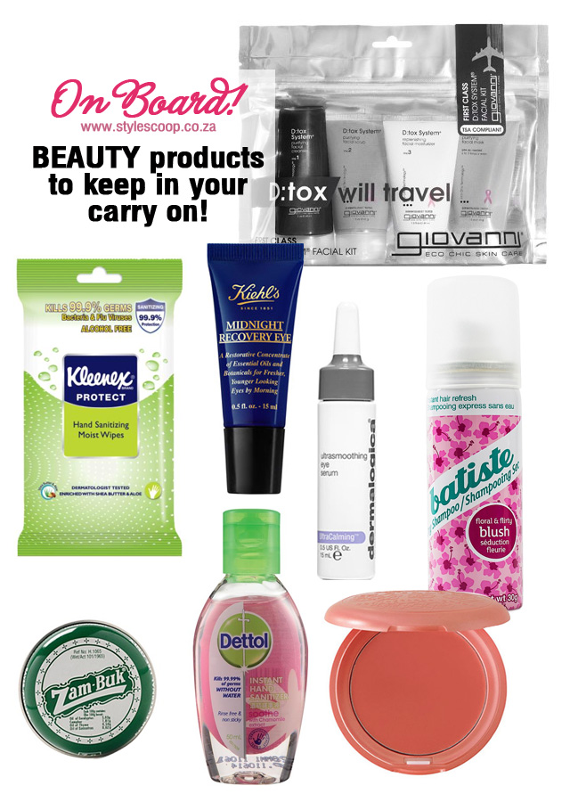 On Board Beauty Travel Essentials