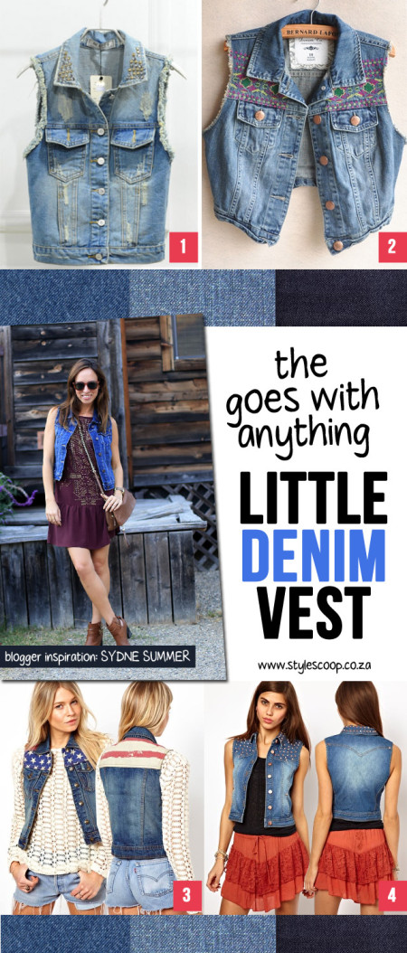 "The ""Wear With Anything"" Little Denim Vest"