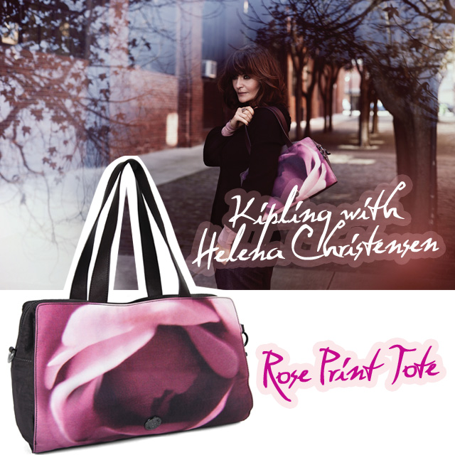 Helena Christensen for Kipling | More on StyleScoopMag.com