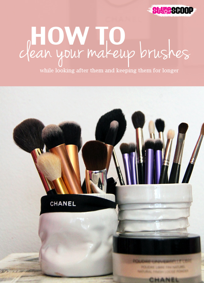 how to clean your makeup brushes stylescoop south african lifestyle fashion beauty blog. Black Bedroom Furniture Sets. Home Design Ideas
