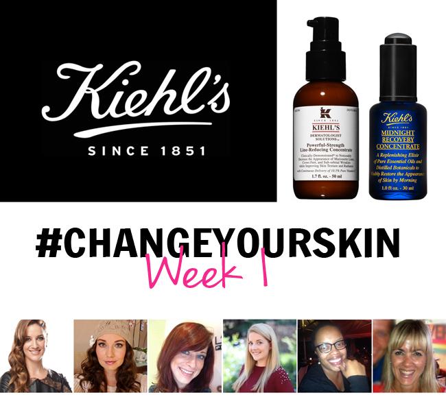 One Week Into Our Kiehl's #ChangeYourSkin Challenge