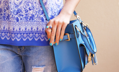"Dune ""Dinky"" bag in Blue (From Edgars), Ring - Lucky Brand"