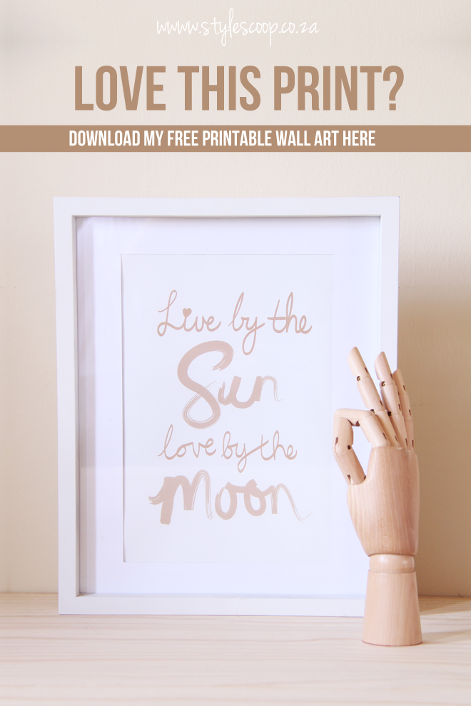 Free Gold Printable | StyleScoop | Live By The Sun Love By The Moon | www.stylescoopblog.com