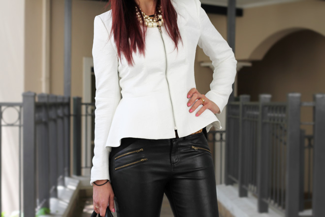 Monochrome Peplum Outfit