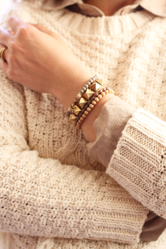 Old Khaki Fringed Knit