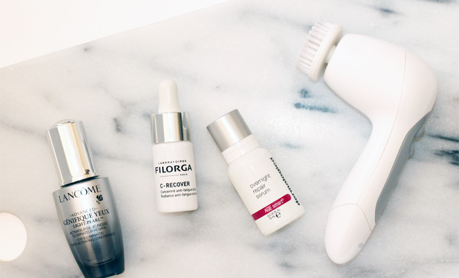 skincare-review-july-2015-south-african-beauty-blog-lancome-genefique-yeux-light-pearl-dermalogica-overnight-repair-serum-filorga-crecover-olay-regenerist-3point-cleansing-system