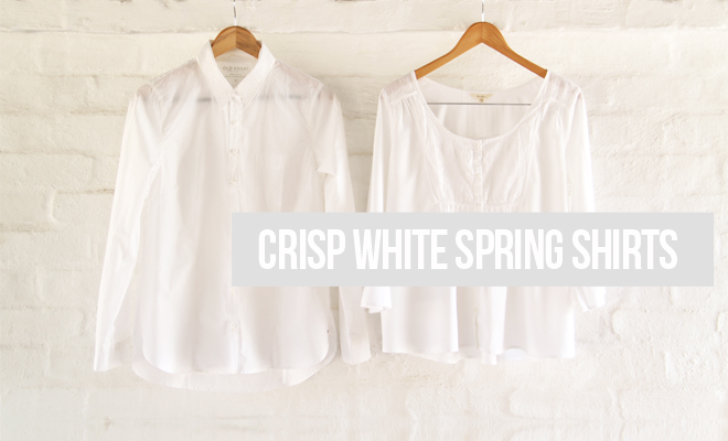 Crisp White Shirts for Spring with Old Khaki