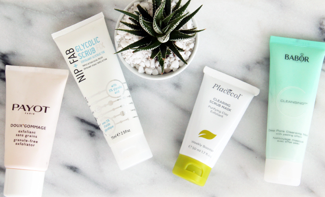 summer-skin-prep-exfoliants-and-masks-stylescoop-featured