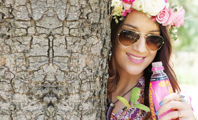 Bohemian Garden Party with Lucozade Pink Lemonade