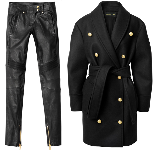 hm-south-africa-balmain-balmaination-leather-pants-wool-coat-price
