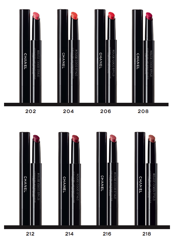 chanel-rouge-coco-stylo-colours